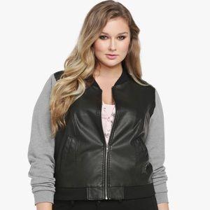 Torrid Faux Leather Bomber Jacket